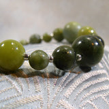 green grass jade beads