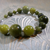 unique dark green jade bracelet uk