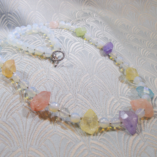 semi-precious jewellery uk, crystal quartz necklace, semi-precious stone jewellery