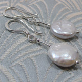 white pearl earrings uk