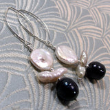 long drop pearl earrings handmade uk
