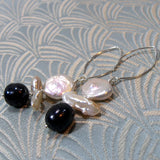 long drop earring handmade freshwater pearls