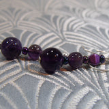deep purple amethyst earring design