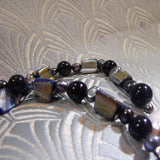 collection of blue goldstone semi-precious beads