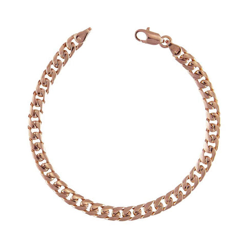 Rose Gold Cuban Link Bracelet