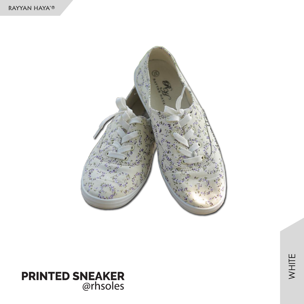 Printed Sneakers (White)