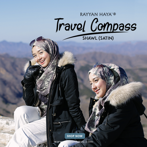 Travel Compass Shawl (Sephia)