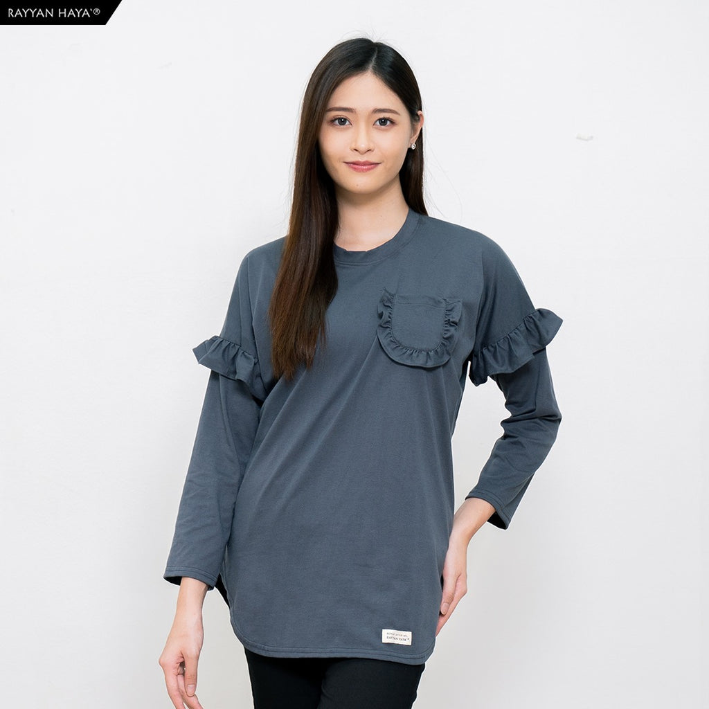 Hanum Ruffle Top (Grey)