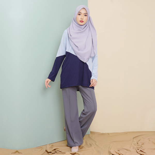 Boot Cut Pants (Blueish Grey)