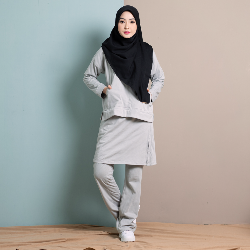 Skirt Pants Set 4.0 (Silver)