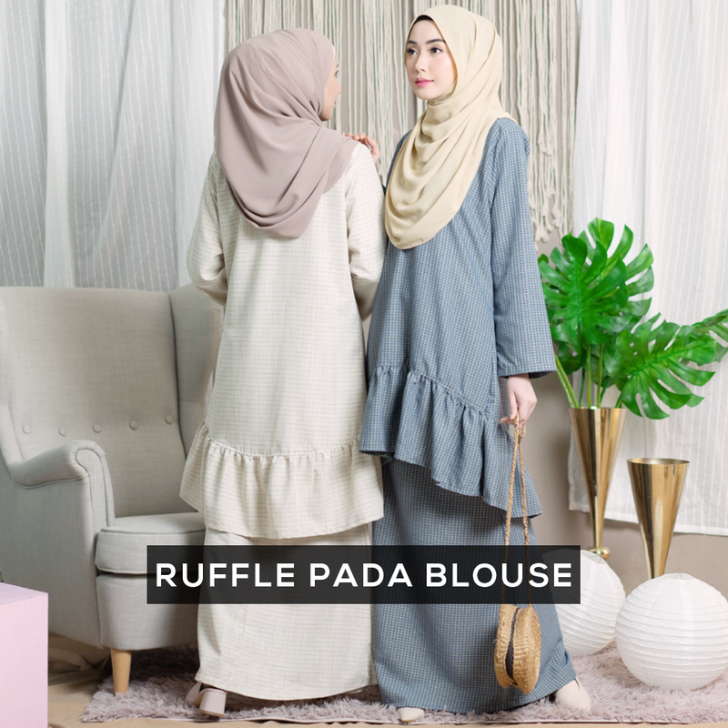 Kayla Ruffle Suit (Cream Yellow)