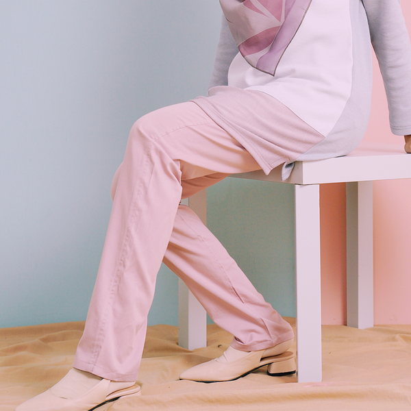 Straight Cut Pants Waistband Malaysia 2.0 (Dusty Pink)