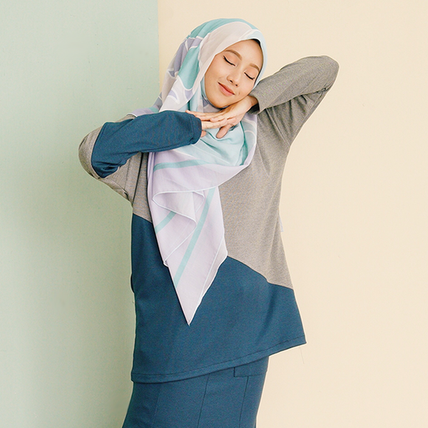 Adeline Top 2.0 (Blue-Silver)