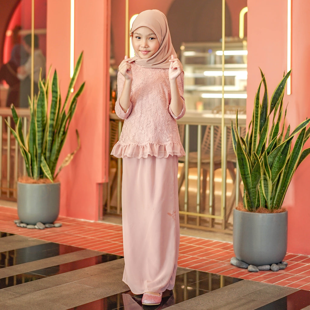 Helena Kurung Kids (Dusty Pink)