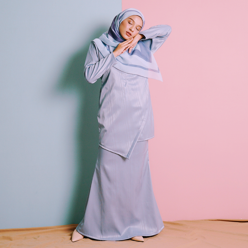Arya Kurung (Dusty Blue)