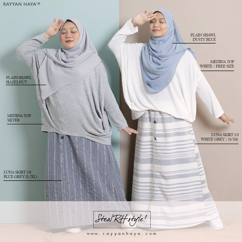Luna Skirt 3.0 (Blue Grey)