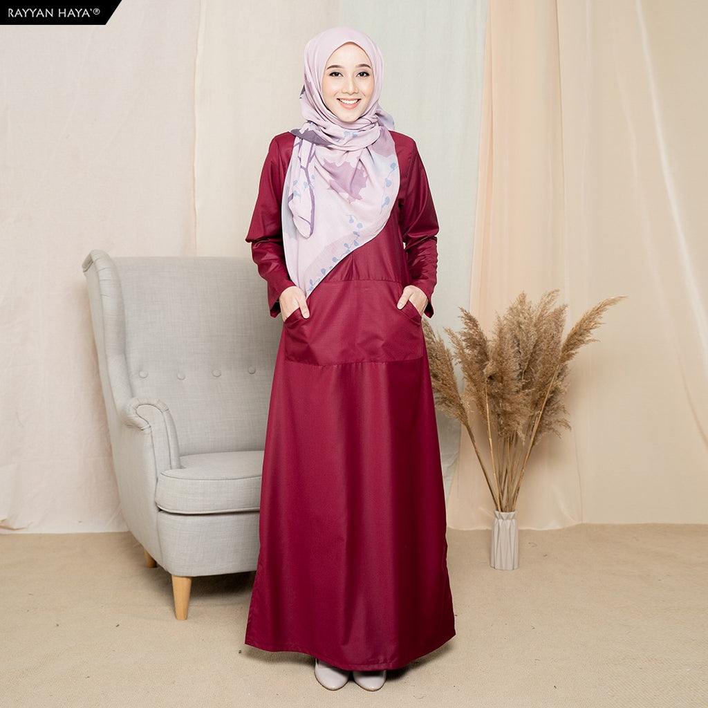 Camellia Long Top (Maroon)