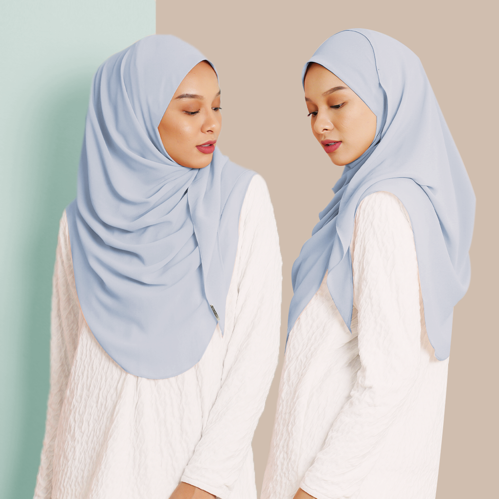 Ayraa Semi Instant Ironless (Sky Blue)