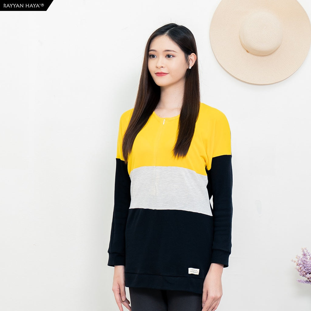 Casandra Top (Yellow/Heather/Black)