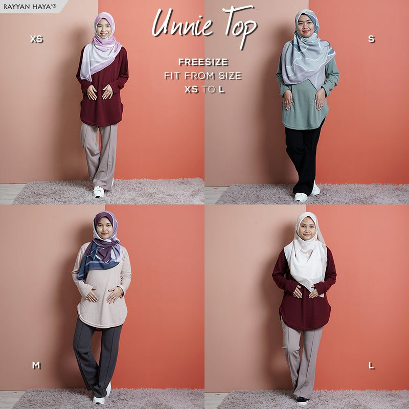 READY STOCK Unnie Top (Dusty Pink)