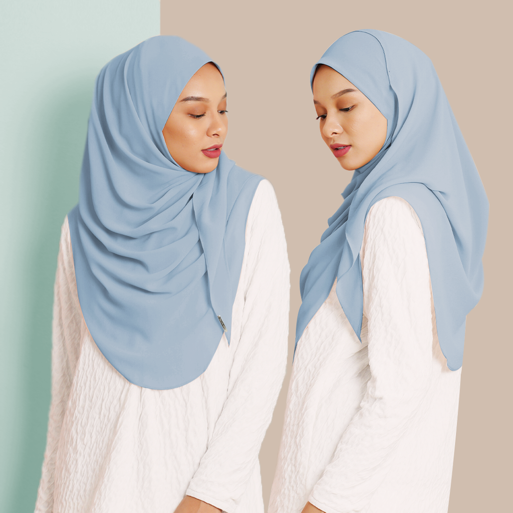 Ayraa Semi Instant Ironless (Baby Blue)