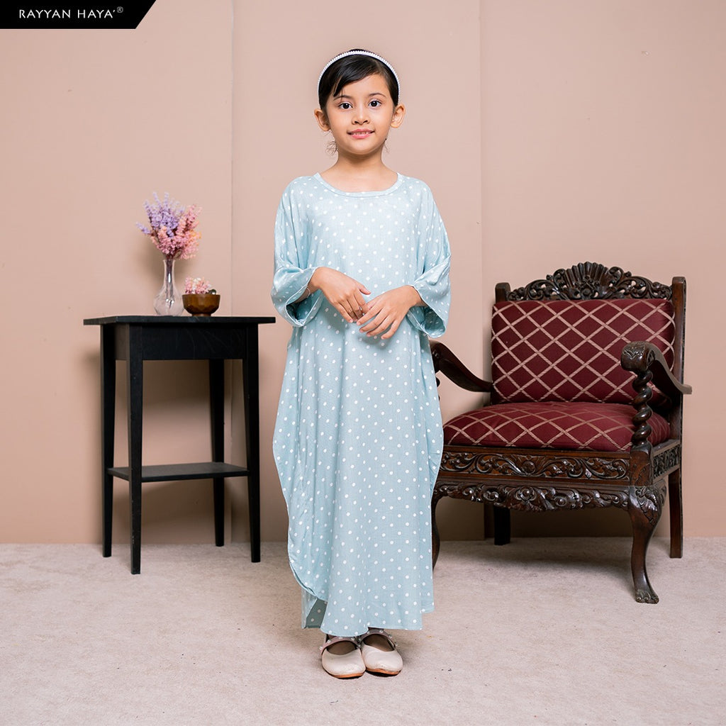 Lily Kaftan Kids (Light Turquoise) BUY 2 FREE 1 GIFT & BUY 3 FREE 2 GIFTS
