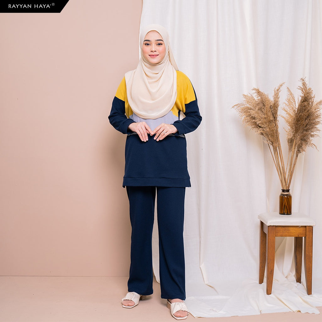Dinah Set (Navy Yellow)
