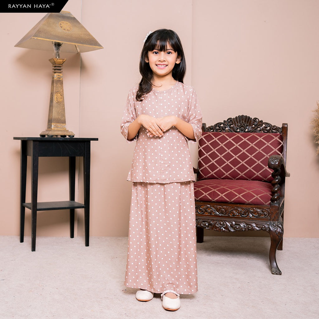Lily Skirt Set Kids (Hazelnut) BUY 2 FREE 1 GIFT & BUY 3 FREE 2 GIFT