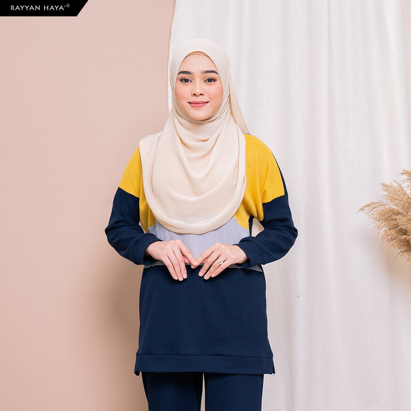 Dinah Top (Navy Yellow)