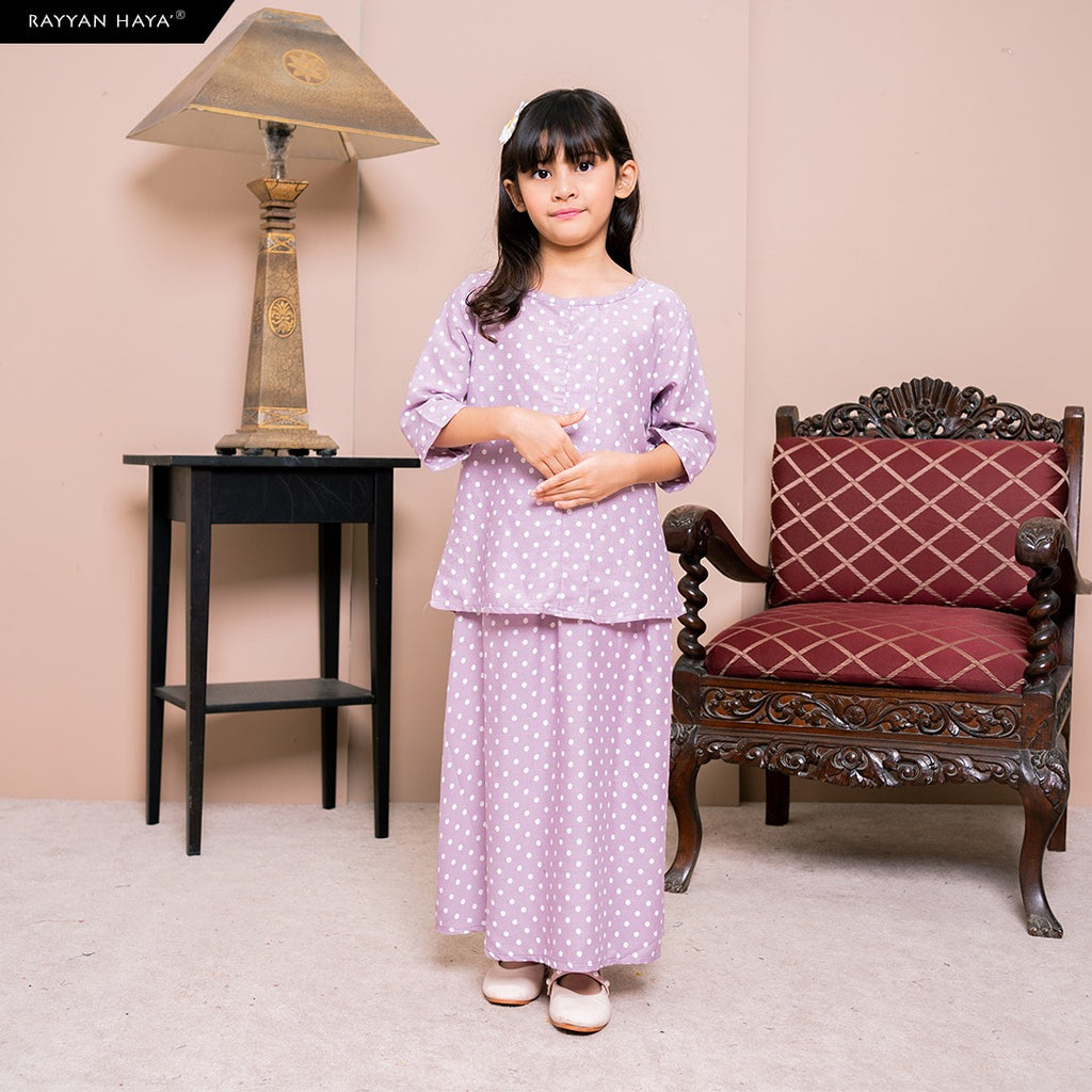 Lily Skirt Set Kids (Lilac) BUY 2 FREE 1 GIFT & BUY 3 FREE 2 GIFT