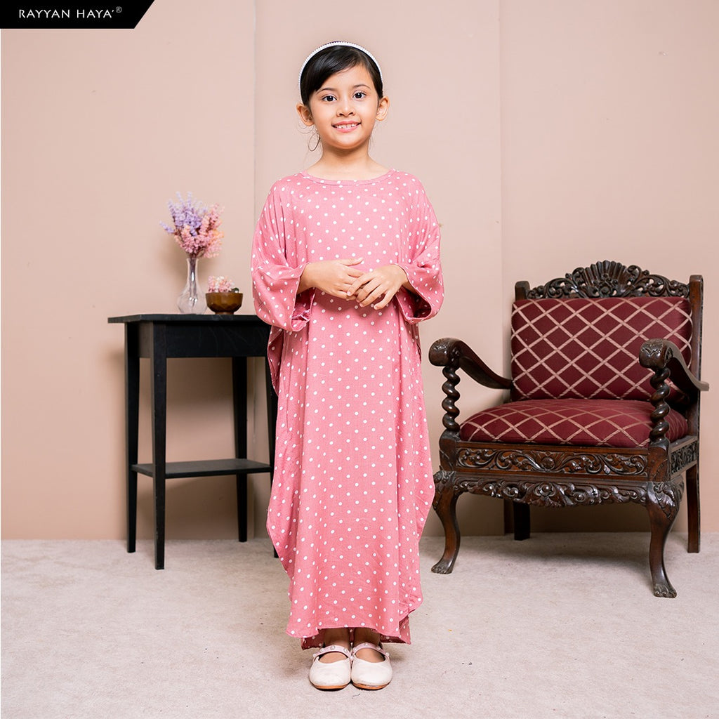 Lily Kaftan Kids (Sunset Pink) BUY 2 FREE 1 GIFT & BUY 3 FREE 2 GIFTS