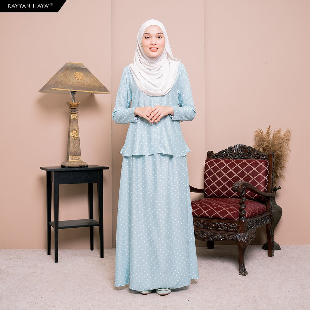 Lily Skirt Set (Light Turqoise) BUY 2 FREE 1 GIFT & BUY 3 FREE 2 GIFT