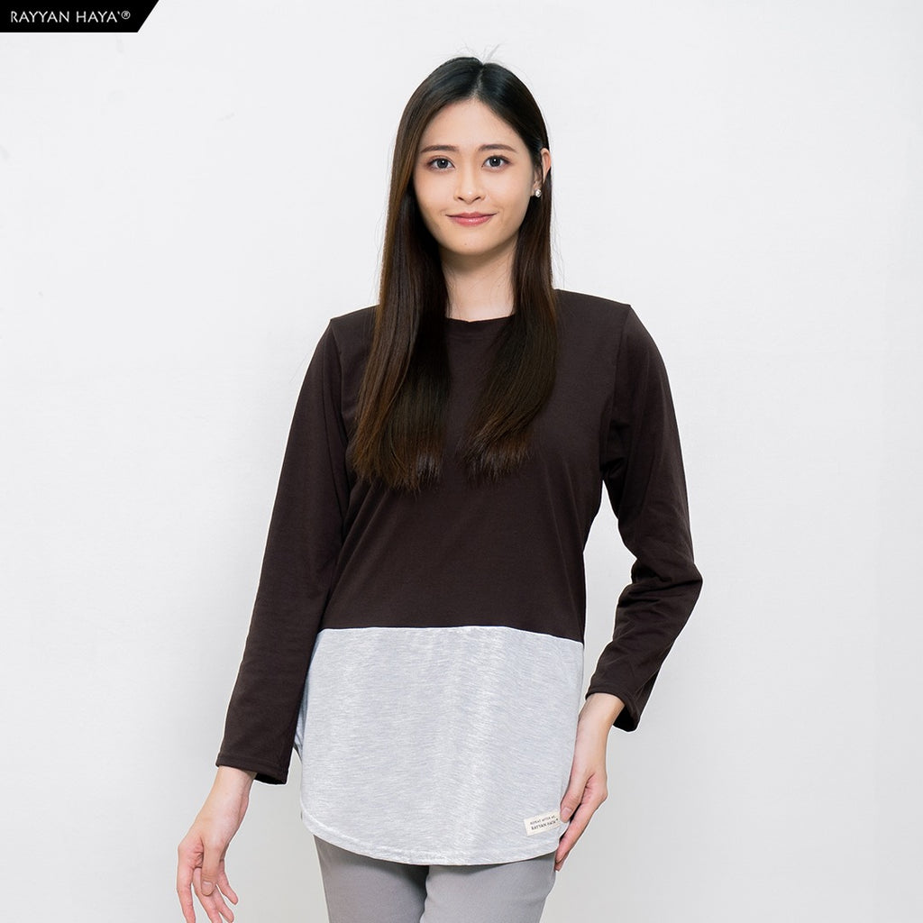 Dwi Top (Dark Brown Heather)