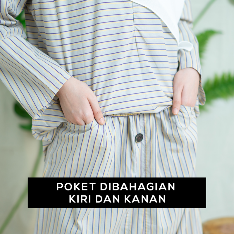 Zhalea Stripe Suit (Dark Blue)