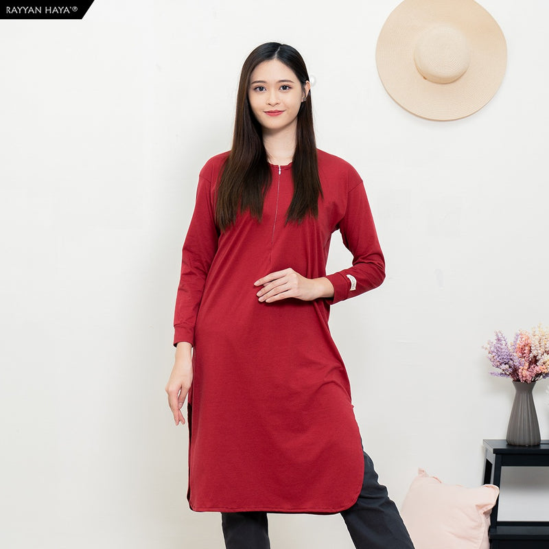 Neyra Long Top (Maroon)