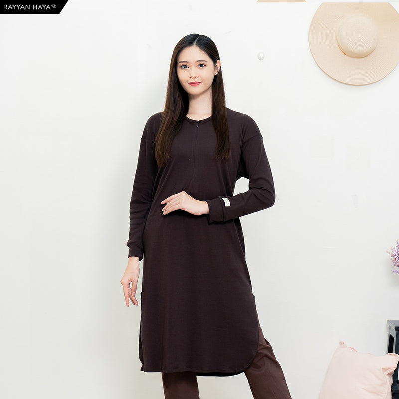 Neyra Long Top (Dark Brown)