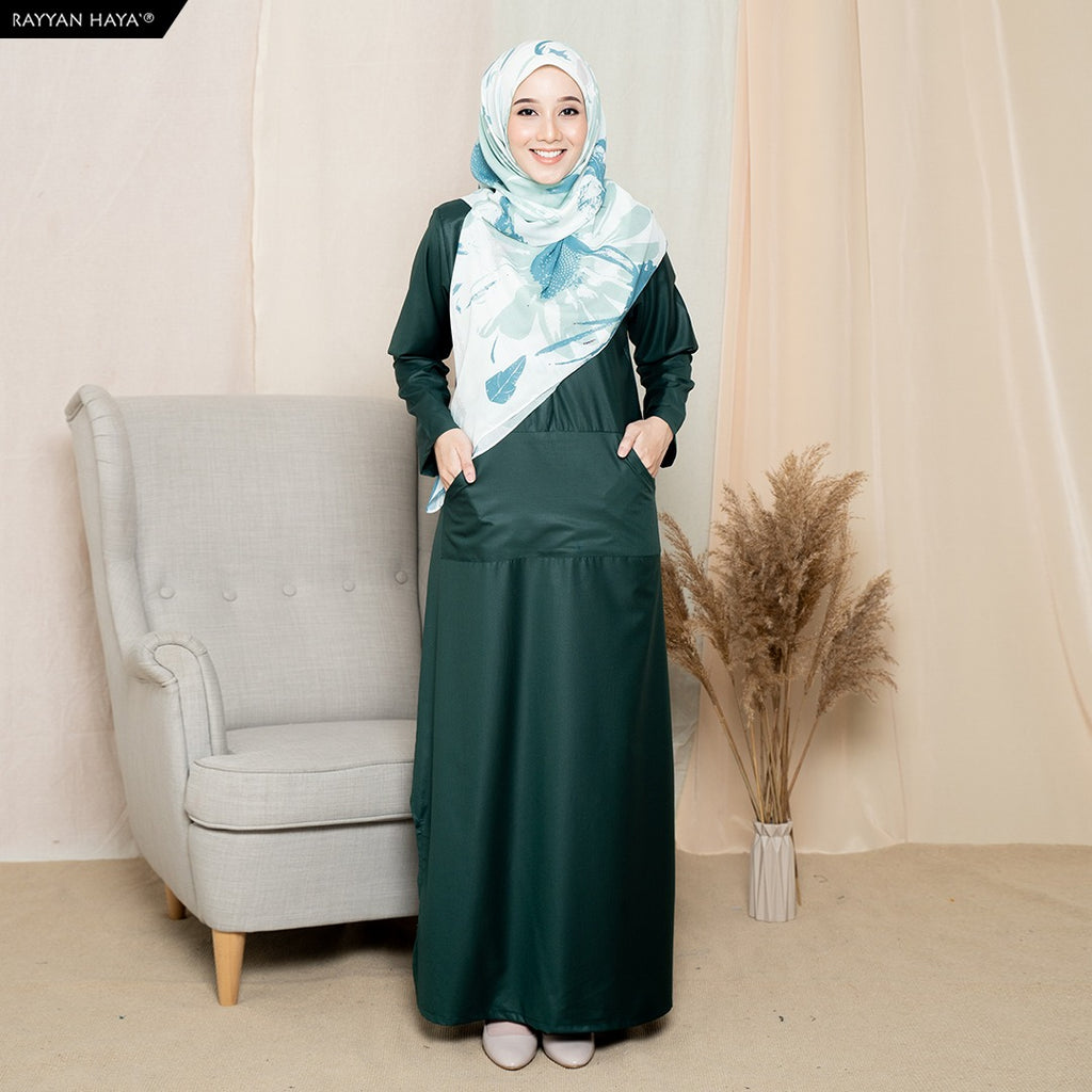 Camellia Long Top (Emerald Green)
