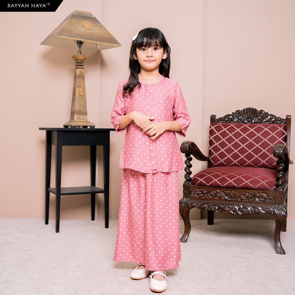 Lily Skirt Set Kids (Sunset Pink) BUY 2 FREE 1 GIFT & BUY 3 FREE 2 GIFT