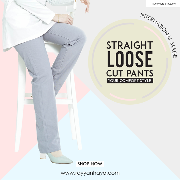 Straight Loose Cut Pants (Grey)