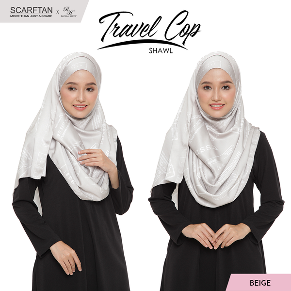 Travel Chop Shawl (Beige)