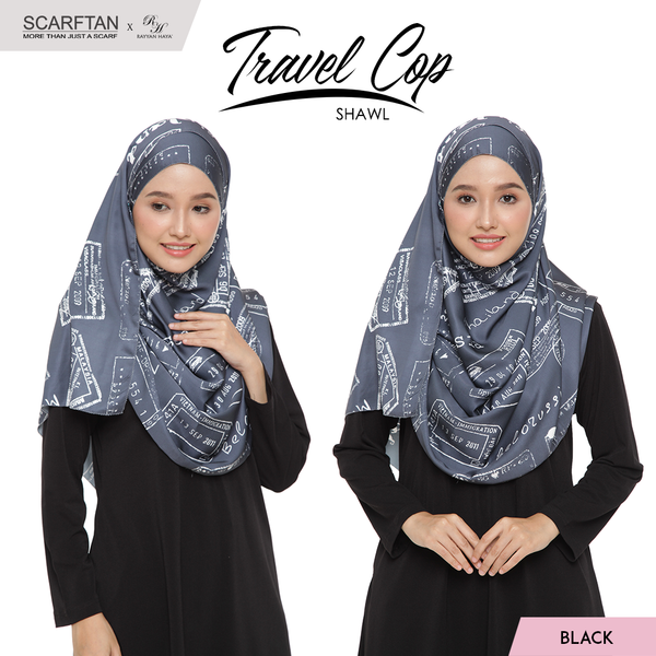 Travel Chop Shawl (Black)