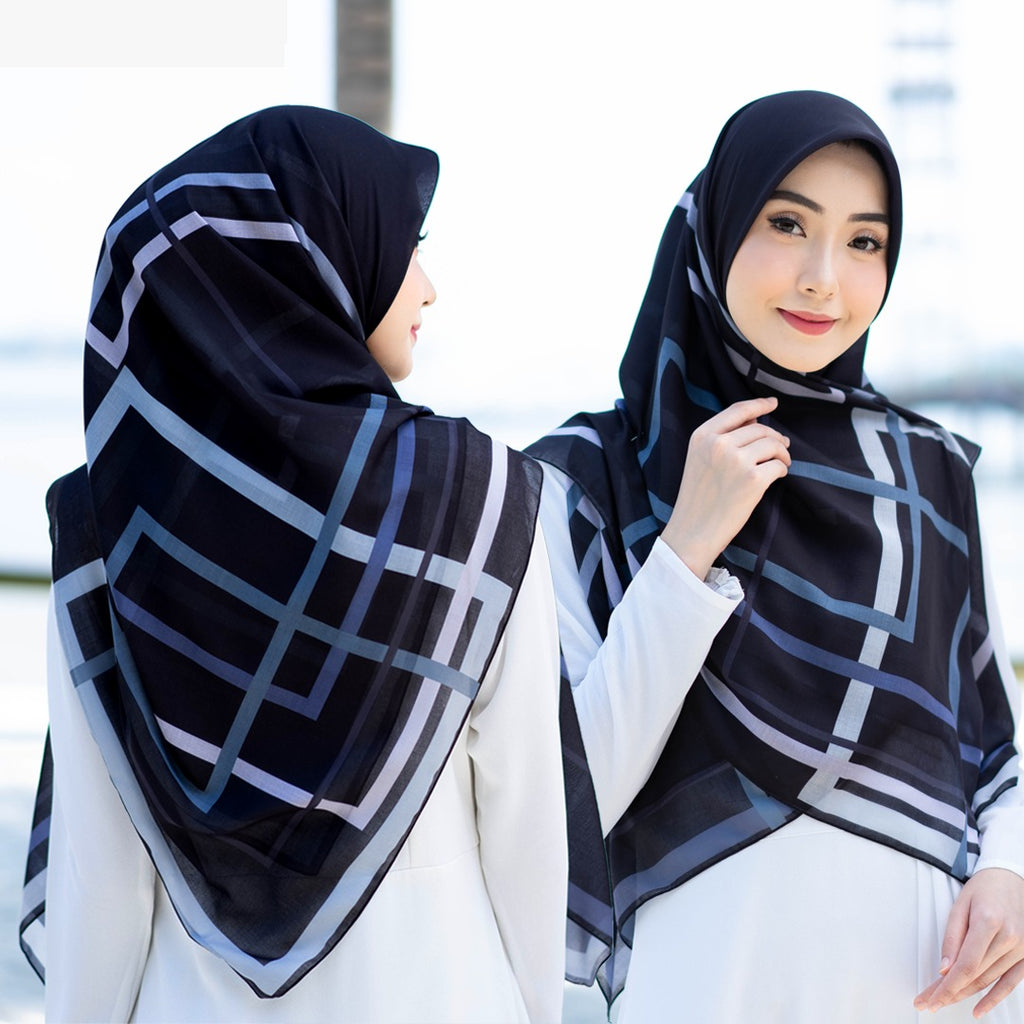 Bawal Geometric 50' (Black)
