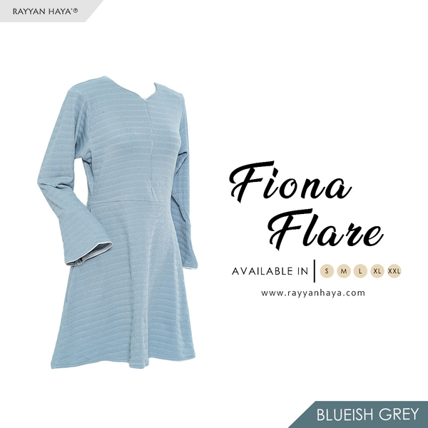 Fiona Flare (Blueish Grey)