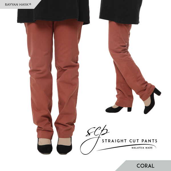 Straight Cut Pants (Coral)