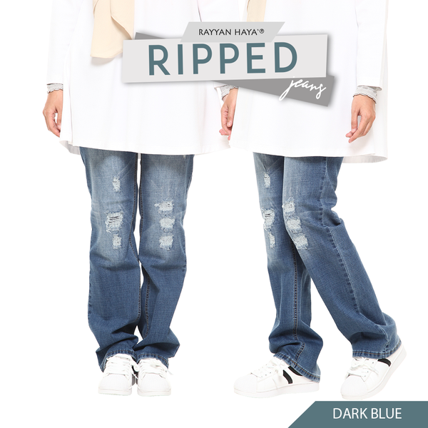Ripped Jeans (Dark Blue)