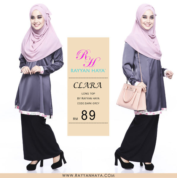 Clara Premium Blouse (Dark Grey)