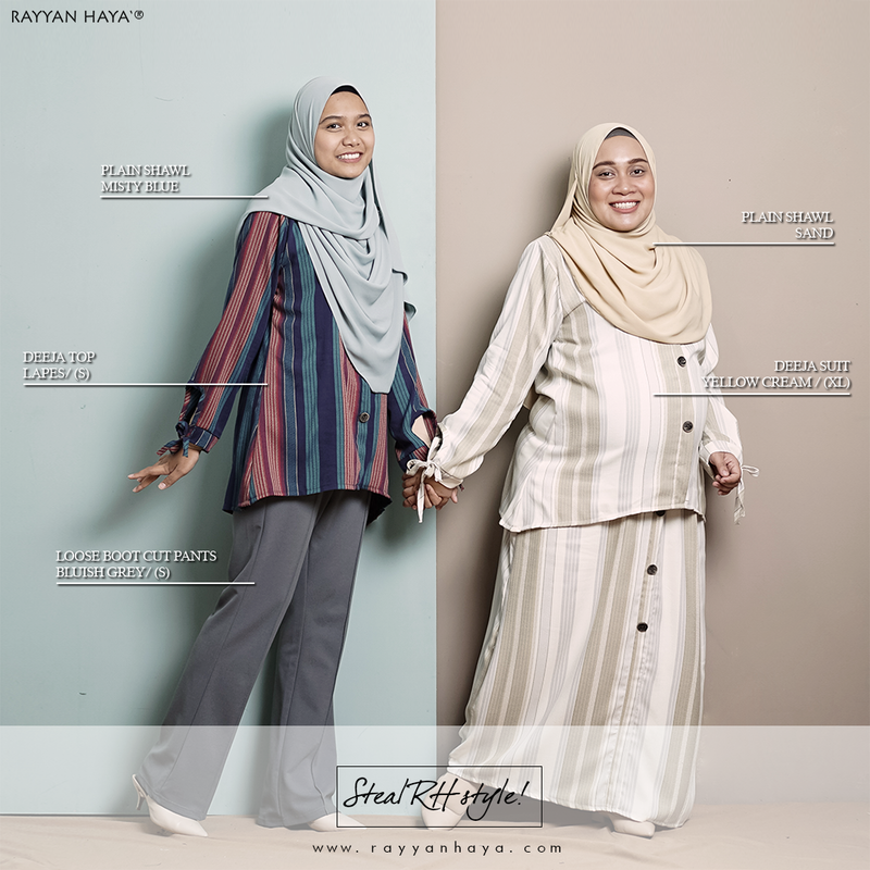 Deeja Suit (White Grey)