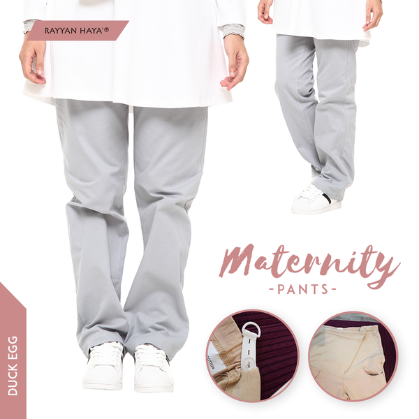 Maternity Pants (Duck Egg)
