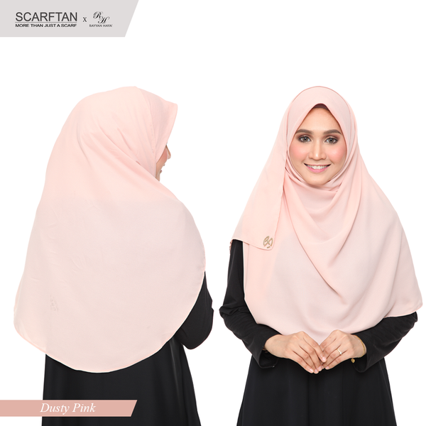 Bawal Instant Shawl (Dusty Pink)