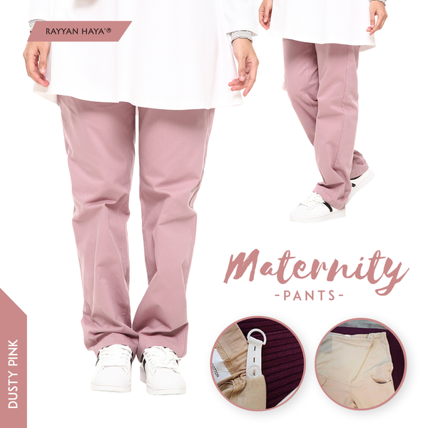 Maternity Pants (Dusty Pink)